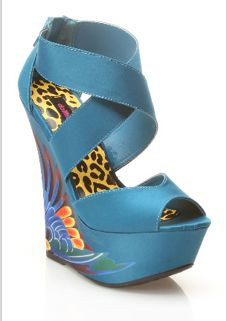 Paradise Wedge Sandal In Blue