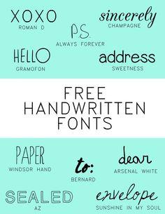 10 free handwritten fonts
