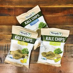 Simply7 Kale Chips: Lemon and Olive Oil, Sea Salt and Dill Pickle