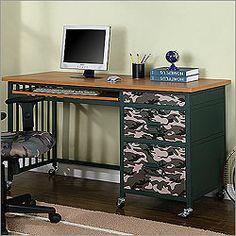 camoflauge ideas for remodeling boy's bedroom | Posted Under: Kid's Desks