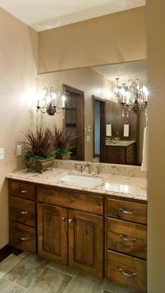 custom cabinetry; bathroom cabinets; bath vanity; knotty alder