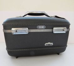 Vintage Dark Gray Train Case by American Tourister with Tray