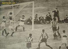Penarol 1 Club Olimpia 0 in June 1960 in Montevideo. Alberto Spencer scored the only goal at Estadio Centenario in the first Copa Libertadores Final, 1st Leg.