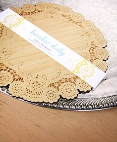wood doily. $15.00, via Etsy.