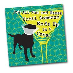 It's All Fun and Games Until Someone Ends Up is a Cone!  Funny party napkins from Napkins2Go.