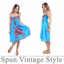 Mexican Oaxacan style Hand-Embroidered Swimwear-Cover-Ups Bridesmaid Beach Boho Mexican Bridesmaid Dresses, Swimwear Cover Ups, Embroidered Clothes, Vintage Dresses, Vintage Fashion, Summer Dresses, Boho, Wedding Dresses, Beach