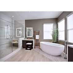 Get Creative With Your Bathroom Floor Tile ❤ liked on Polyvore featuring home, home improvement, flooring, house and room