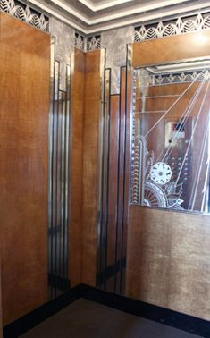 art deco interior design | Photo: Elegant Art Deco elevator cab interior after restoration ...