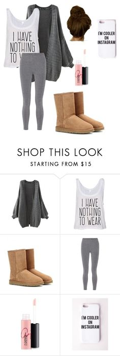 """Lazy Day"" by paigevjacobs on Polyvore featuring UGG Australia, T By Alexander Wang, MAC Cosmetics, Missguided, women's clothing, women, female, woman, misses and juniors"