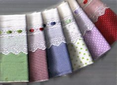 64 Ideas For Embroidery Pillow Cases Tea Towels Bathroom Towels, Kitchen Towels, Dish Towels, Tea Towels, Mantel Redondo, Sewing Crafts, Sewing Projects, Diy And Crafts, Handmade Crafts