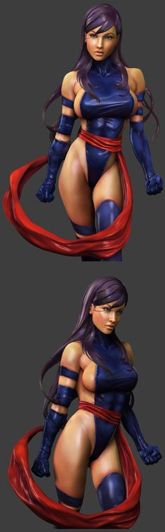 Psylocke design by Adam Hughes, who appears to not know that women have labia. Breathing in that outfit, far less fighting, would result in a wedgie so epic it would take a team of doctors a week to remove it.