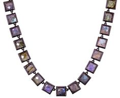 Nak Armstrong | Labradorite Mosaic Necklace in Designers Nak Armstrong Necklaces at TWISTonline