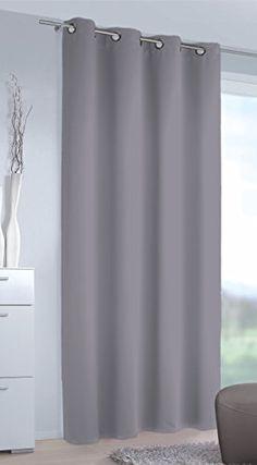 """Moderne, sanft fallende Verdunkelungsgardine / Verdunkelungs - Ösenschal / Thermo - Gardine """" GREY SHADOW """" in GRAU / ANTHRAZIT - mit Ösen - elegante Optik - Größe 140x245 cm - Blickdicht - Starke Verdunkelung - Wärmeisolierend im Winter - Kühlend im Sommer - Schallschluckend - auch in vielen weiteren Farben erhältlich - aus dem KAMACA-SHOP"""