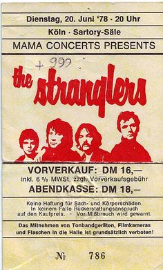 THE STRANGLERS Band Posters, Music Posters, Rock & Pop, 70s Punk, Pops Concert, Big Music, Thing 1, The New Wave, Thrash Metal