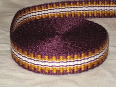 Purple gold and white handwoven inkle trim over 14 by applegirl5, $35.00