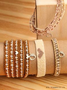 All that glitters is #HelloKitty x #ChanLuu. Supercute to wear alone or layer up these pretty earthy tones