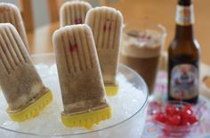 Root Beer Float Popscicles