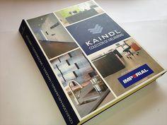 Diseño y diagramación catálogo formato folleto 4 caras exhibidor muestras coleccion tableros sincronizadas