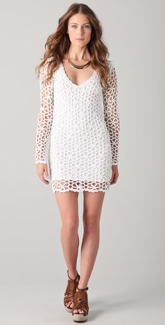 MADE TO ORDER  Crochet Dress a dress with an Irish by Irenastyle, $599.00