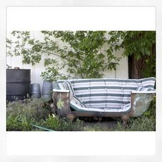 So neat! We're feeling inspired by this bathtub turned couch. What can you #Repurpose?