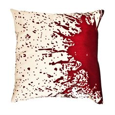 Forensic pillow 1 (splatter). The nerd in me really wants this. I love forensic science and Dexter, and let's face it....doesn't this remind you of both?