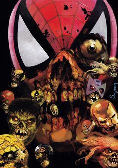jthenr-comics-vault:    Night Of The Living Dead Marvel Universe  Happy Halloween!