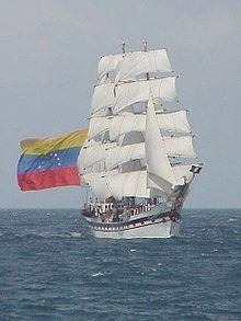 """Simón Bolívar"" is a training vessel for the Venezuelan Navy."