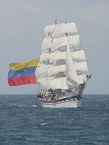 """""""Simón Bolívar"""" is a training vessel for the Venezuelan Navy."""