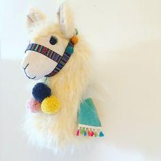 Fluffy faux fur llama