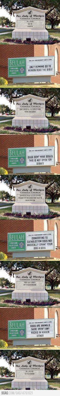 neighboring churches...