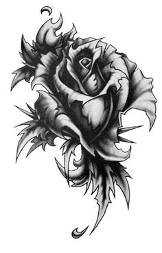 Gothic Rose Tattoo