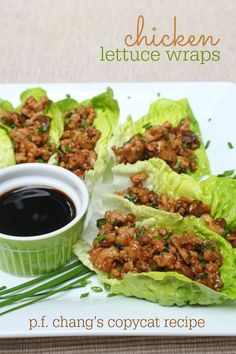 This copycat version of PF Changs chicken lettuce wraps includes ground chicken, teriyaki sauce and hot sauce, mushrooms, and a handful of basil leaves.