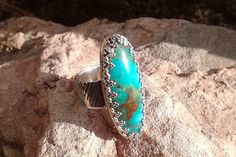 Nevada Blue-Green Turquoise Ring