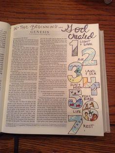 Bible Journaling: Genesis 1  @kgjones5
