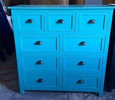 Blue Ocean Handcrafted  Dresser by BorboletaDecors on Etsy