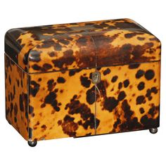 Shop vintage, mid-century, modern and antique tea caddies from the world's best furniture dealers. Animal Print Decor, Animal Prints, Antique Boxes, Tea Caddy, Vintage Couture, Christmas Animals, Objet D'art, Casket, Tortoise Shell