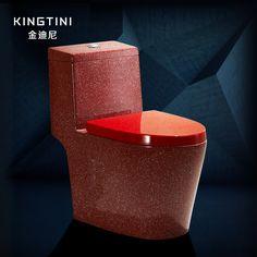 Baño rojo multicolor personalizada de cerámica porcelana sanitaria zuopianqi aseo general de hogar Una pieza closestool stinkpot