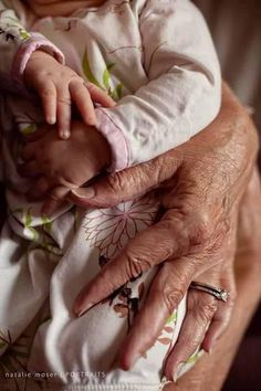 I want to take a picture like this with one of my babies and my grandma before she leaves this world.