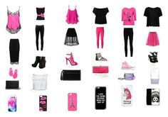 """pink and black"" by joker-girl6499 ❤ liked on Polyvore featuring Boutique Moschino, Passport, Givenchy, Doublju, rag & bone, Ralph Lauren Black Label, Simone Rocha, Zibi London, River Island and Topshop"