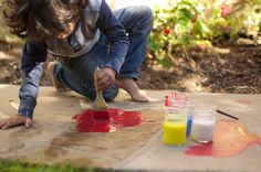 little monster: Sidewalk Chalk Paint
