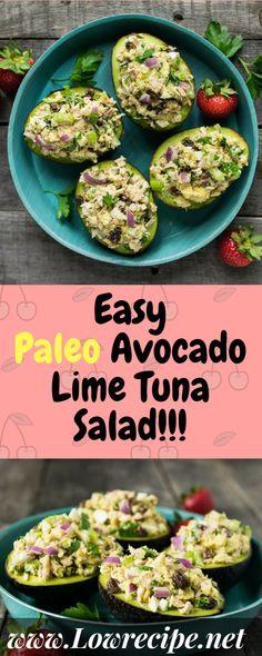 Easy Paleo Avocado Lime Tuna Salad!!! - Low Recipe
