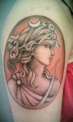 Artemis cameo tattoo- perfection!