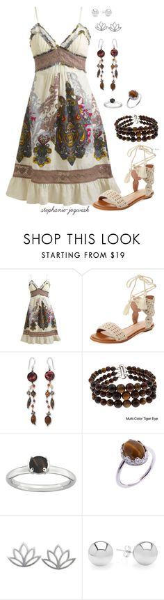 """""""Lynne's Outfit for Audrianna's Baby Shower"""" by stephanie-jozwiak ❤ liked on Polyvore featuring Wet Seal, Joie, NOVICA, Pearlz Ocean, H.Azeem and Pori"""