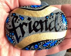 Dear friend / sister friend / treasured friend / painted rocks / Sandi Pike Foundas / love from Cape Cod