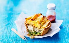 It's a delicious Fish 'n Chip Pie from the people who bring us the best in food - Marks & Spencer!