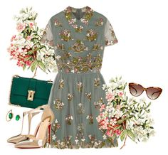 """""""Sweet flowers in my thoughts"""" by gabyidc ❤ liked on Polyvore featuring Valentino, Christian Louboutin, Iosselliani and Miss Selfridge"""