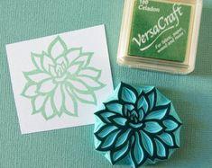 Succulent rubber stamp, hand carved stamps, nature, wedding decor, botanical