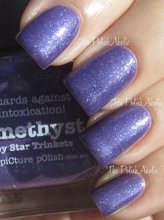 piCture pOlish Amethyst swatched by The PolishAholic!