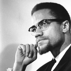 "Malcolm X was a leader in the Civil Rights Movement. ""Malcolm X."" The Biography Channel website. Malcolm X, Martin Luther King, Democracy Now, Human Rights Activists, Quotes Thoughts, By Any Means Necessary, Jolie Photo, Black History Month, African American History"