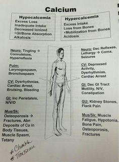 Calcium / hypocalcemia / hypercalcemia